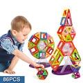 86 шт. мини-магнитные блок строительство модели строительство игрушка просвещения пластиковых моделей развивающие игрушки для малышей подарок