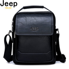 JEEP BULUO Brand Men Leather Bags Man's Fashion Shouder Messenger Bag Causal Crossbody Tote Bags New Style 100% High Quality