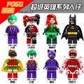 Único super heróis blocos diy harley quinn batman catwoman coringa robin poison ivy calendário de pessoas blocos brinquedos