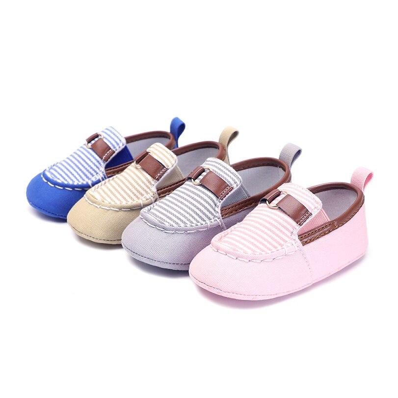 Baby boy girls crib shoes newborn infant canvas brand soft sole babies moccasins moccs fashion Slip-On anti-slip Booties 2018