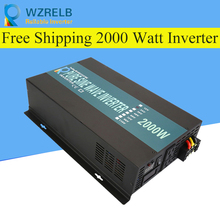 цены Reliable Peak 2000W Pure Sine Wave OFF Grid Inverter DC12V/24V to AC220V Power Inverter Converter Houseuse Solar System