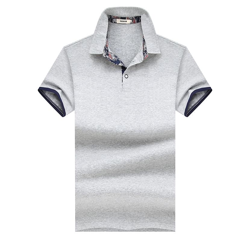 Liseaven Polos Polo Camisa Casual Cor Sólida de Algodão dos homens Slim Fit  Top Polos Artigo Camisas Masculinas Camisas Pólo de Manga Curta topos.  SIZE. 2 701c71257f768