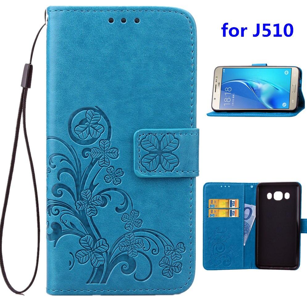 """Luxusní PU kožené pouzdro na telefon pro Samsung Galaxy J510FN / J5 (2016) 5,2 """"(5,2"""") s krytem držáku karet modrá černá hnědá šedá fialová růže"""