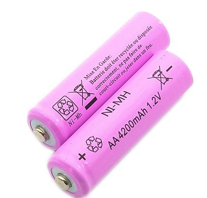 16PCS lot AA Ni MH 1 2V AA Rechargeable 4200mAh Battery Rechargeable battery aa batteries for Flashlight Camera Pink in Replacement Batteries from Consumer Electronics