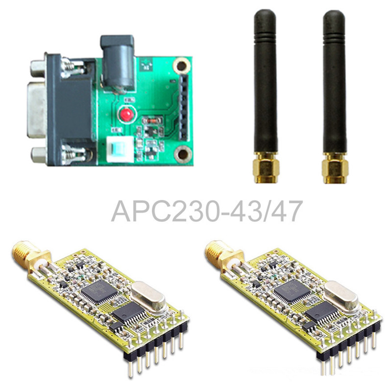APC230 / wireless communication module / with serial set board set nrf24le1 wireless data transmission modules with wireless serial interface module dedicated test plate