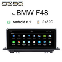 OZGQ Android 8.1 System IPS Screen Car GPS Navigation Multimedia Radio For 2016 2018 BMW X1 Series F48 With WIFi Bluetooth