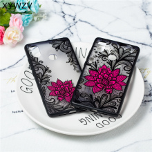 Flower Case Xiaomi Mi 8 SE Luxury Retro Lace Pattern Matte Phone For Back Cover PC Shell