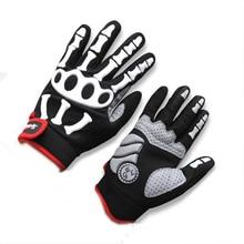 SPAKCT Full Finger Cycling Sportwear Gloves GEL Full Finger Cycling Gloves Skull Bike Bicycle Men Slip