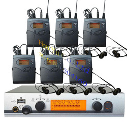6 Receivers Pro ear monitors wireless Feedback System with in-ear headphone for Stage Performance Club Bar TV station Monitoring