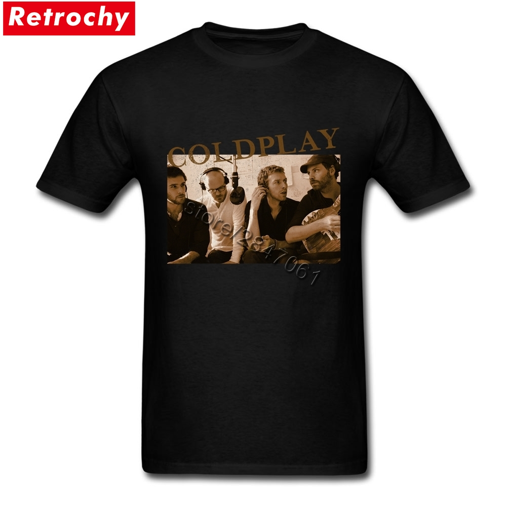 1990S Band T-Shirt for Men Fashionable Brand Vintage Clothing Coldplay Shirt Men Shirts Valentines Day Drop Shipping Merchandise