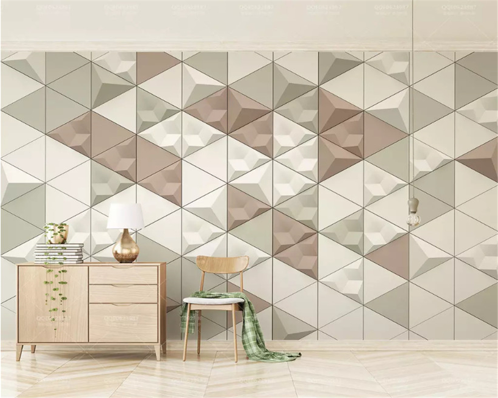 beibehang Custom fashion 3d wallpaper Nordic modern minimalistic colored abstract geometric background wall papers home decor