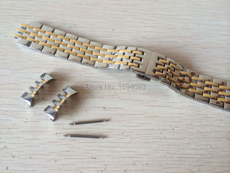 19mm new Watch Parts force Locke T41 male strip Solid Stainless steel bracelet strap L264 Watch Bands L164/264-1 19 mm prc200 t17 t461 t014430 t014410 male bracelet bracelet watch parts of the strip of solid stainless steel bracelet