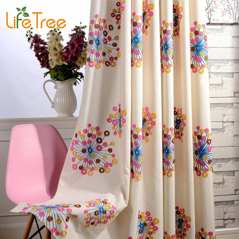Colorful Firework Embroidered Kids font b Curtains b font For Boys Girls Bedroom Modern Living Room
