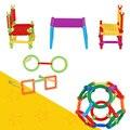 1 Компл. Пластик 3D Головоломки Собраны Развивающие Игрушки Строительного Кирпича в Сочетании Игрушка Кирпичи Игрушки для Детей