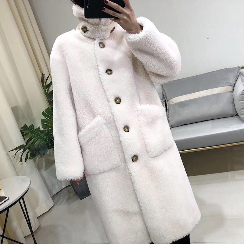 Wool Coat Women Plus Size 2019 New Women Stand Collar Outwear Jacket Wool Blend Jackets Casual Autumn Winter Elegan Lady Outwear