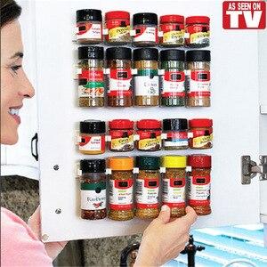 4 Set Clip N Store Spice Rack Storage Holder Stick Kitchen Closet Cabinet Cooking Tools Kitchen Decoration Furniture Accessories