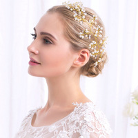 4 Pieces 2017 Fashion Women Hairband Princess Crystal Branch Plant Wedding Party High Quality Daily Jewelry