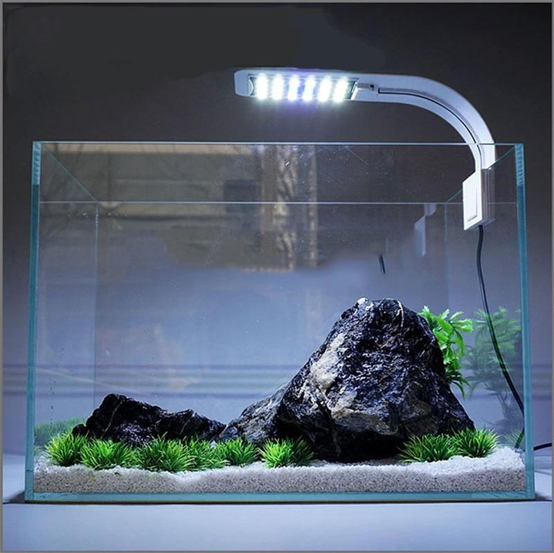 Super Slim LED Aquarium Lumières LED Plantes Élèvent La Lumière 5 w/10 w/15 w Aquatiques D'eau Douce Lampes étanche Clip sur Lampe Pour Fish Tank