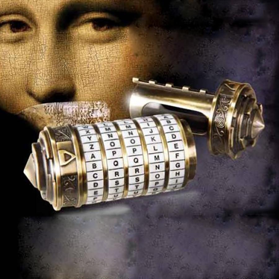 Da Vinci Code Lock Mini Toys Cryptex Locks Letter Password Escape Chamber Props Educational Puzzle Toys For Valentine's Day Gift