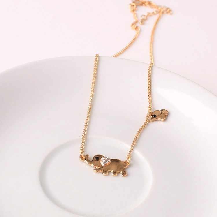 عالية الجودة الحيوان كريستال الفيل المختنق القلائد و المعلقات للنساء موضة جديدة حفلة عيد ميلاد مجوهرات