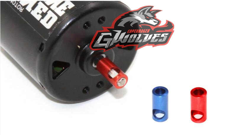 GWOLVES BLAUW/ROOD Metalen Motor Conversie Set 3.17MM as 5MM Bus Motor gear Conversie 5mm as 3.17mm