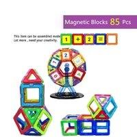85pcs Magnetic Construction Building Blocks Magnetic Designers Educational Toys Magnetic Brick Building Toys ferris wheel
