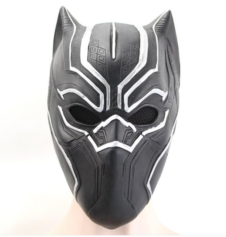 Marvel Solid 3D Black Panther Masks Movie Fantastic Four Cosplay Men's Latex Party Full Mask for Halloween Party Masquerade Prop