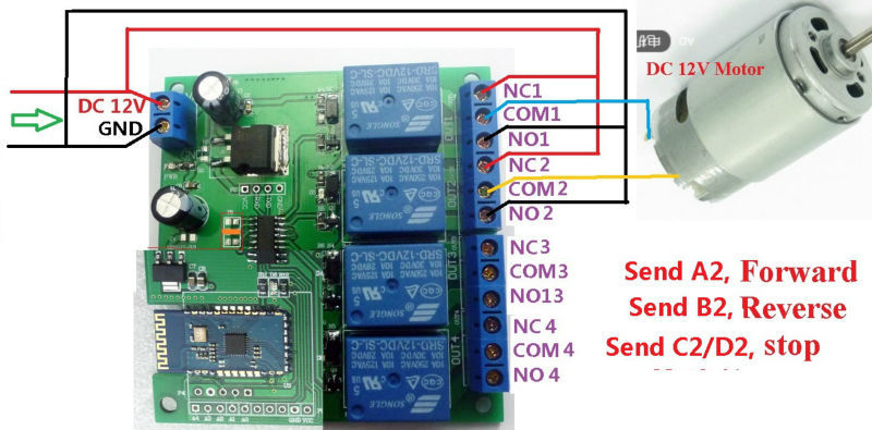 control 4 lighting wiring diagram 1995 4l80e transmission 12v channel bluetooth relay android mobile remote switch 3 dc 1 48v or ac 85 265v circuit below note if not load need another power supply may be led lights fans