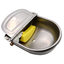 Livestock Cow Horse New Automatic Water Bowls Stainless Steel Drinking Bowl Float Outlet For Cattle Dog Sheep Pig Feeder