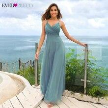 אלגנטי שמלות נשף ארוך פעם די EP07369 אונליין צווארון V שיפון זול נשים פורמליות הכלה ערב שמלות למסיבת חתונה