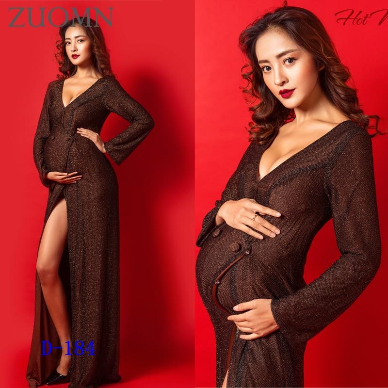 ФОТО Maternity new Photography Props Dress Pregnancy Gown Set Dresses For Pregnant Women Clothing Photo Portrait Portrait Dress YL530