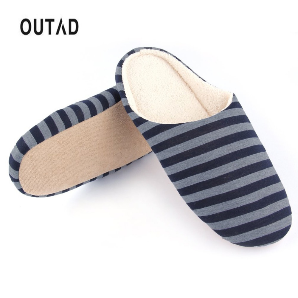 OUTAD 4 Color Slippers Winter Women Men Shoes Warm Soft Indoor floor  Striped Cloth Bottom Universal Couple Lovers Plush HomeOUTAD 4 Color Slippers Winter Women Men Shoes Warm Soft Indoor floor  Striped Cloth Bottom Universal Couple Lovers Plush Home