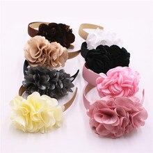 Бутик девушки и женщины красивый цветок Грация ленты для волос Детские повязки на голову Детские широкие обручи для волос Тиара аксессуары для волос