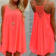 Women Beach Dress Fluorescence Female Summer Chiffon Voile 2019 Style Clothing Plus Size VN 68