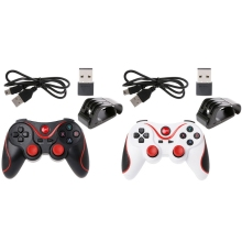 OOTDTY T3 Wireless Bluetooth 3.0 Gamepad Game Controller + Holder USB Receiver For Android