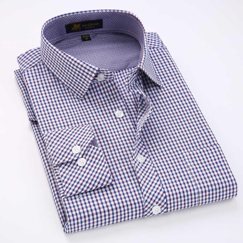2017 新ファッションメンズフルスリーブ格子縞のシャツの男性のカジュアル主義シャツビジネスフォーマルドレスシャツのため男性