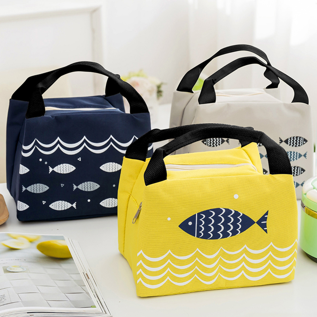 Fish Food Insulation Lunch Handbag Fruit Picnic Dinner Storage Cooler Bag Cold Portable Heavy Ice Pouch