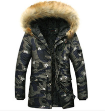 Parkas Hombre 2016men's Fashion High-end Leisure  Camouflage Winter Jacket  Mens Quilted Jacket  Warm Winter Jackets Men