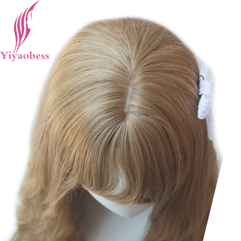 Image 5 - Yiyaobess 65cm Long Wavy Wigs With Bangs Heat Resistant Synthetic Hair Black Linen Brown Purple Light Golden Wig Free Shipping-in Synthetic None-Lace  Wigs from Hair Extensions & Wigs