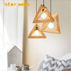 Ster wens Nordic massief houten hanglamp ontwerp voor Keuken eetkamer creatieve hunging licht