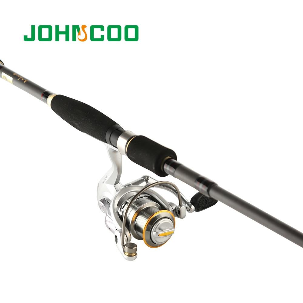 e59b14414 JOHNCOO Telescópica Vara De Pesca De Combinação de Alumínio Conjunto de  Pesca Bobina Carretel De Pesca carretilha 9 + 1 BB 5.0  1 roda de Fiar  carretel de ...