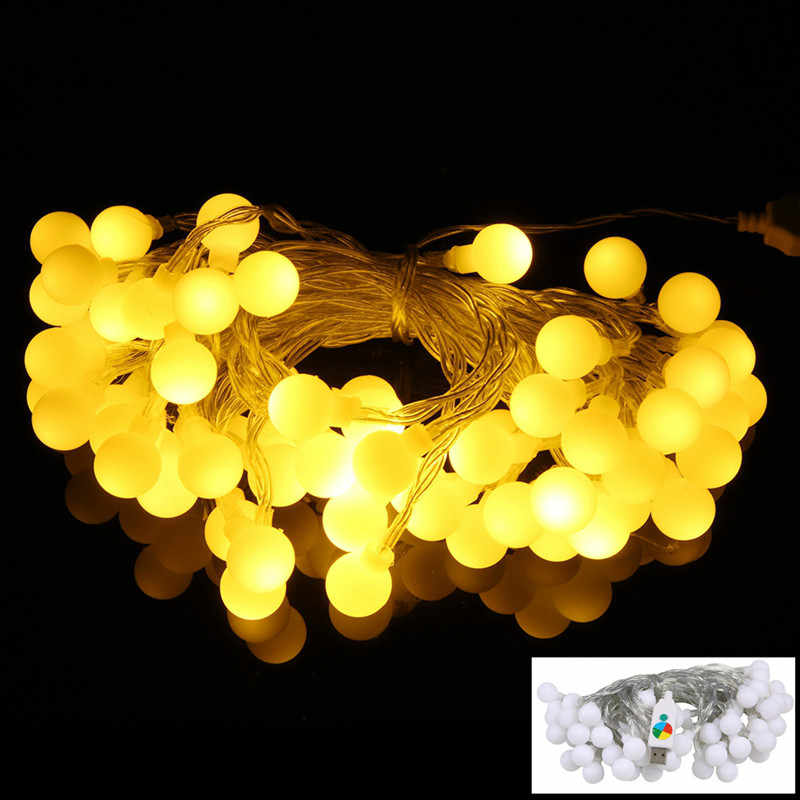 2M 3M 5M 10M USB 5V Globe Ball LED string lights Christmas holiday wedding party festival decoration Garland Fairy lights