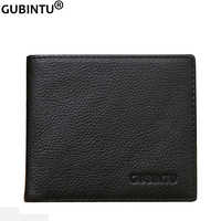 GUBINTU 2019 New Portefeuille Homme Men Wallets Leather Slim Wallet with Anti-theft RFID  Blocking Technology-Proporta G360