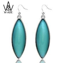 2019 New Fashion Jewelry Gold Silver Plated Blue Ellipse Crystal Drop Earring for Women Ladies Water Drop Dangle Earrings Gift