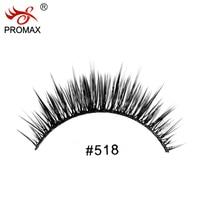 High Quality PROMAX 518 False Eyelashes 12 Pairs Handmade Natural Long Fake Eye Lashes Eyelash Extension