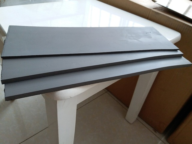 330x110x7or4 Mm Flash Stamp Black Blank Pad Cushion Rubber Plate Materials Photosensitive