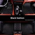 Leopard completo rodeado tapetes de coche para tesla model s cayennebostermacan insípido antideslizante impermeable alfombras de 5 asientos coches