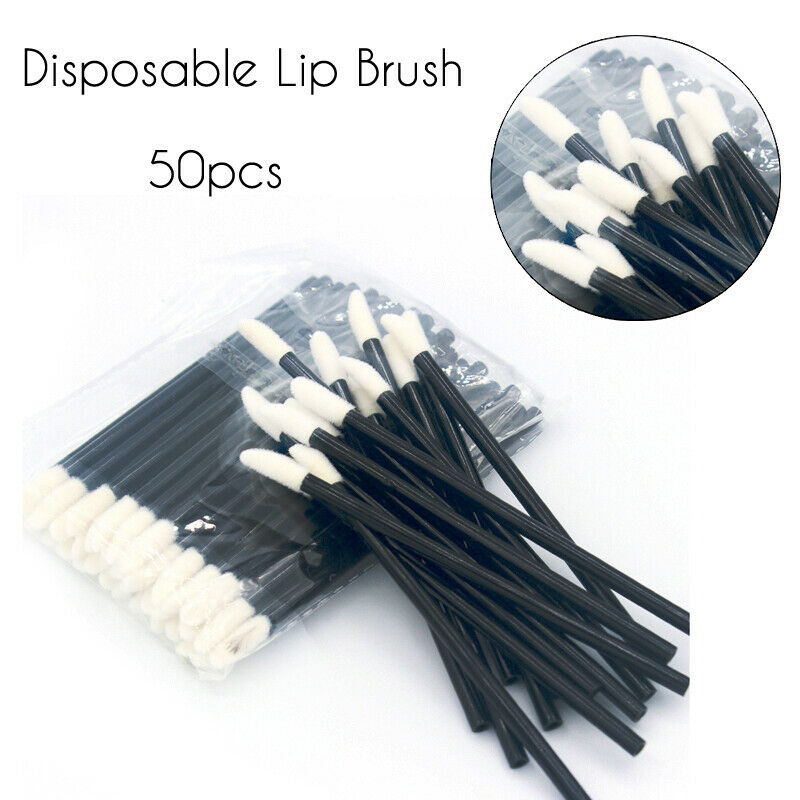 50 PCS Disposable Lip Brush Gloss Wands Applicator Disposable Lip Brushes Lint Free Tips Perfect Best Makeup Tools