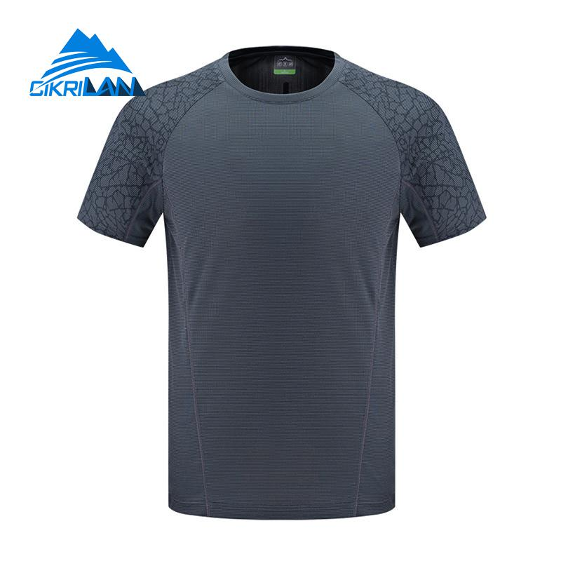 6d8b46f8bc5d New Mens Summer Quick Dry Leisure Sports O neck Short Sleeve Running Hiking  T shirt Fishing Camping Climbing Outdoor T Shirt on Aliexpress.com