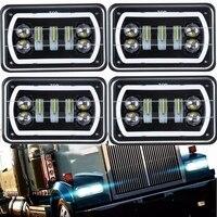 Marlaa 30 Вт 4x6 дюймов светодиодный фары с DRL для Peterbil Kenworth Freightinger Ford Probe Chevrolet Oldsmobile Cutlass